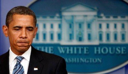 """""""Barack Obama fait la moue"""", légende de cette photographie dans un article de Paris Match intitulé """"Barack Obama: Sa lune de miel est terminée"""""""
