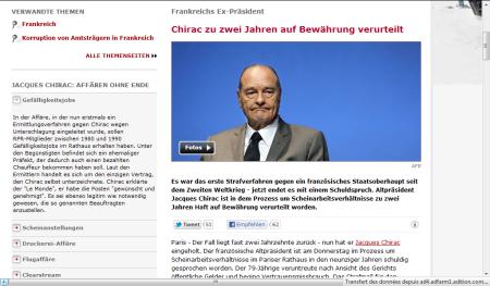 capture d'écran du site spiegel.de, le 15 décembre 2011