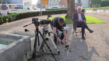 Sur le tournage d'Adieu au langage de Jean-Luc Godard  - http://www.commeaucinema.com/