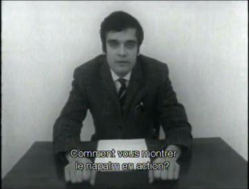 Harun Farocki dans Feux Inextinguibles, 1969 - Cliquez sur l'image pour voir le film